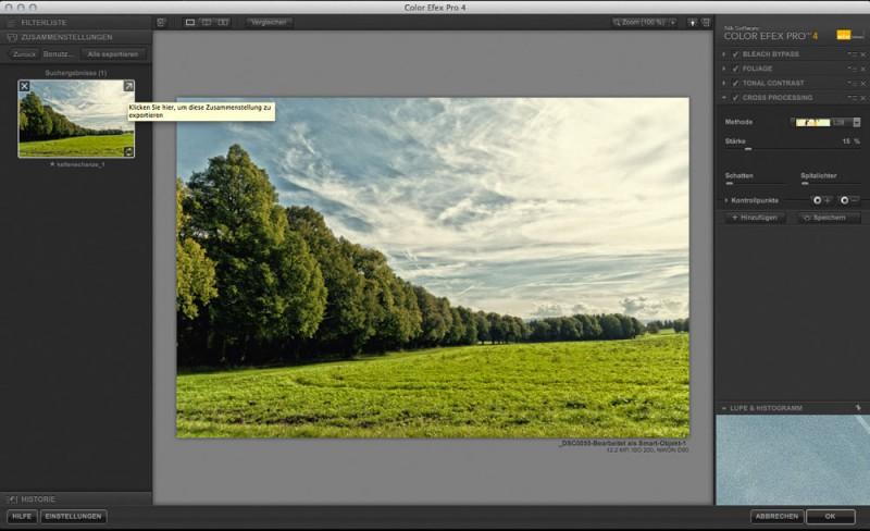Color Efex Pro 4 Filterzusammenstellung