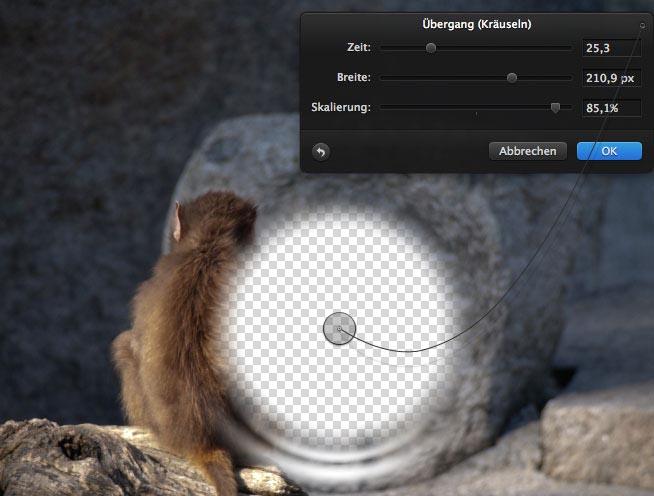 Effekte Detailansicht in Pixelmator