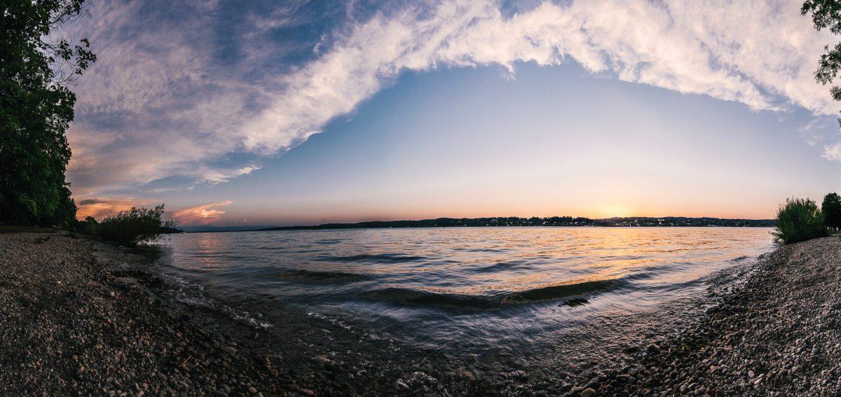 Starnberger See Langzeitbelichtung Dämmerung